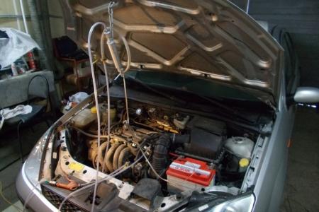 Поиск утечки в системе впуска дымогенератором в Чкаловском районе нижегородскойобл.